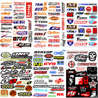 Electric vehicle Motocross Race motor bike Racing Helmet decoration waterproof decal motorcycle sticker
