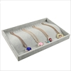 Wholesale High Grade Gray Jewelry Store Jewelry Treasure Necklace Rings Jewelry Set Display Case Tray