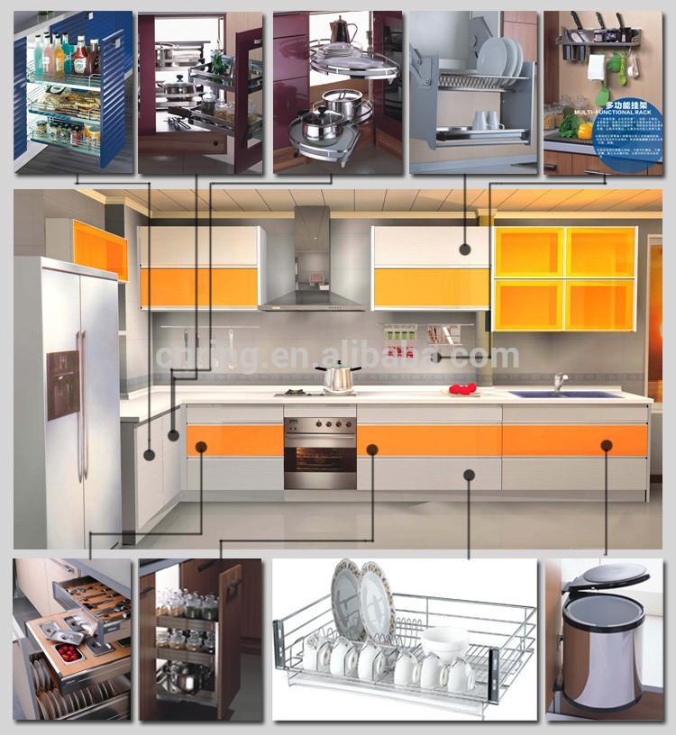 2014 Modern Modular Kitchen Cabinet Color Combinations