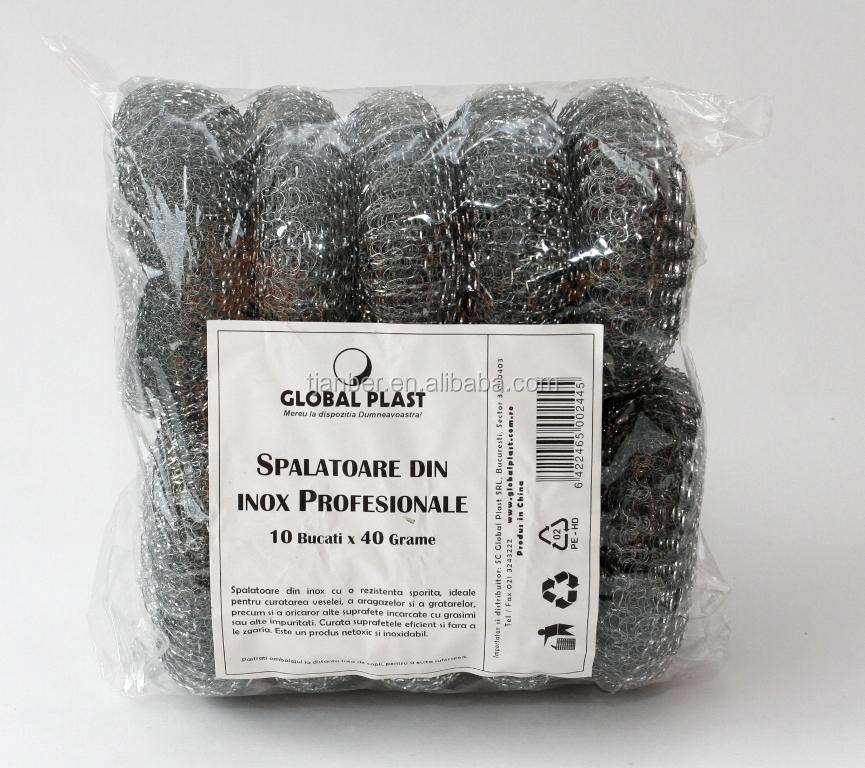 Galvanized Wire Mesh Scrubber,Galvanized Mesh Steel Wool Scourer ...