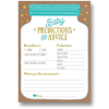 50 pcs Baby Shower Prediction and Advice Cards - Gender Neutral Boy or Girl, Baby Shower Games Favors