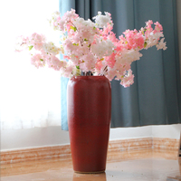 Japanese style wholesale home goods decorative red ceramic vase
