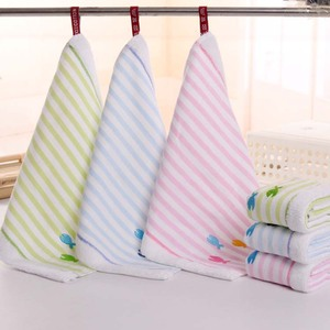 Cloth embroidered little fish baby mouthwatering towel special purpose wipe towel square kids towel
