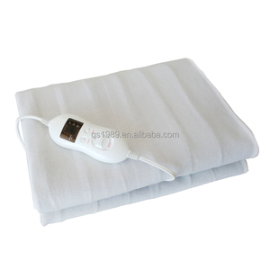10 hour auto-off CE, GS,ETL approved 220-240V polyester single size electric blanket heating
