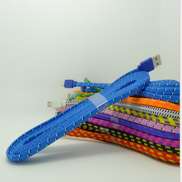 cable for iphone4s, fabric usb braided wire data sync cloth woven 1m 10ft  colorful cord