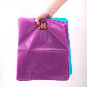 shiny ldpe plastic die cut handle shopping bags
