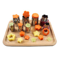 multifunction 8pcs stainless steel flower shape cake vegetable fruit cutter mold kitchen accessories tool