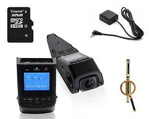 Blueskysea Free Gift Gel Pen + New B40 A118 Novatek 96650 AR0330 6G Lens FHD 1080P 30FPS Car DashBoard Camera Driving Recorder +1.5 inch Screen + G-sensor + Car License plate + 170 degree wide angle lens + H.264 + GPS Data Logger (camera+32gb)