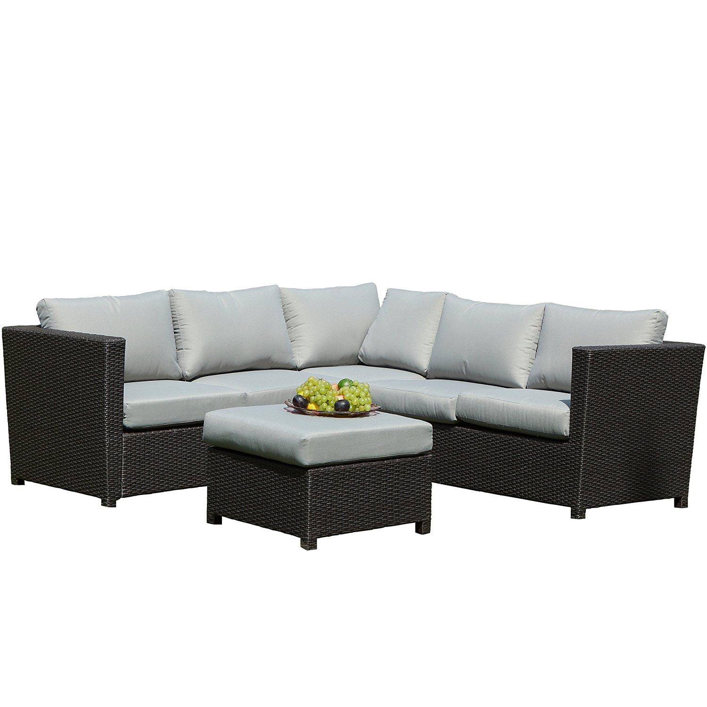 Buy SeCortile 3PC Patio Sectional Rattan Sofa Set Outdoor ...