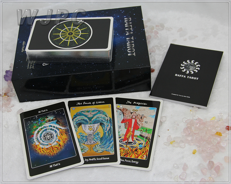 Customized Silver Gold  White Paper Normal Spiritual Tarot Cards Set Decks 78 Printing Wholesale