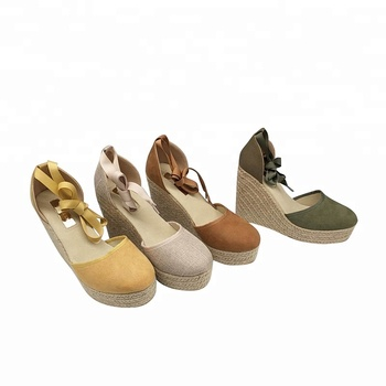 507fc7330 Low Price Women Close Toe Ankle Lace Up Wedge Espadrille Sandals ...