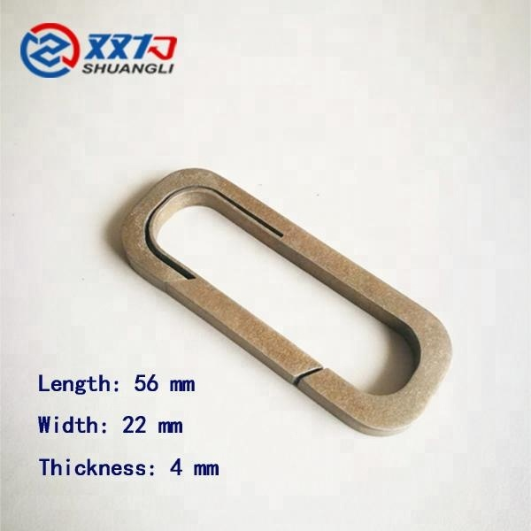 High quality Light and durable Titanium key chain