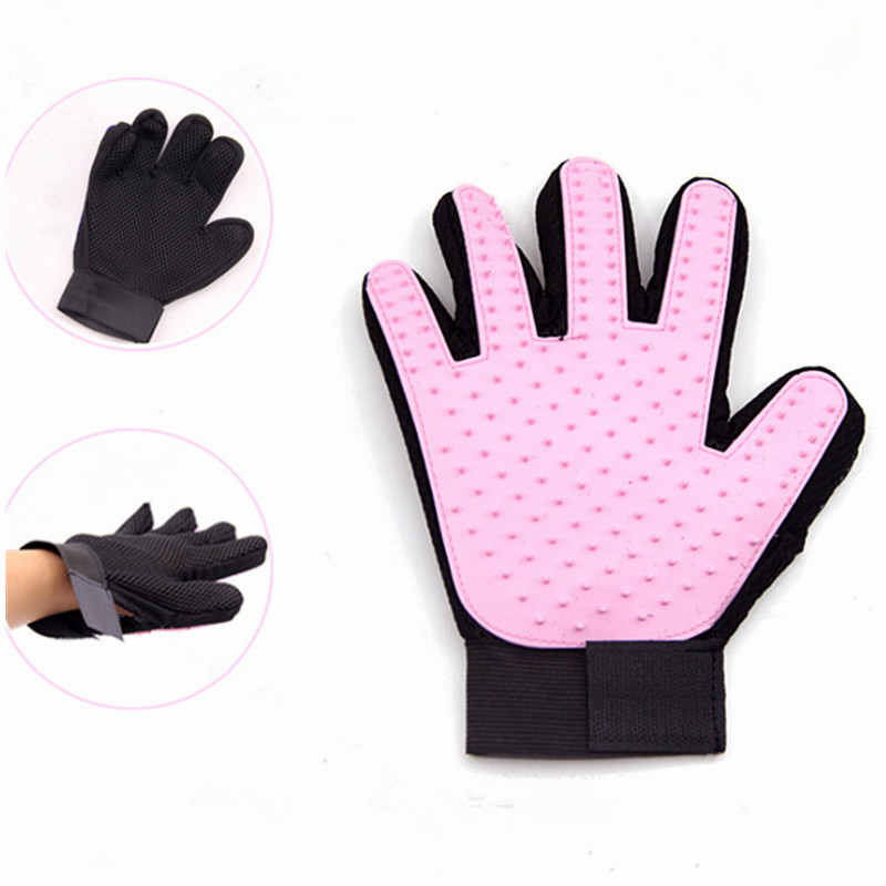 Wholesale <strong>Pet</strong> Grooming Gloves Silicone Massage Hair Remover Dog Cat Cleaning Brush Magic Glove