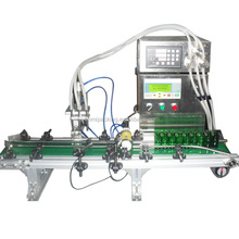 New product 2017 multi filling head liquid filling machine, high accuracy e-liquid dispenser with conveyor