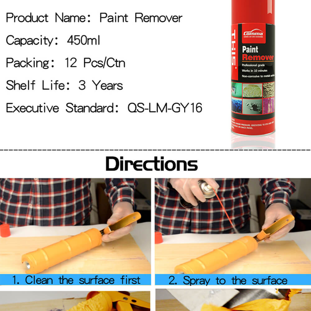 Superstrip 450ml chemical aerosol spray masonry gloss emulsion varnish paint remover for metal