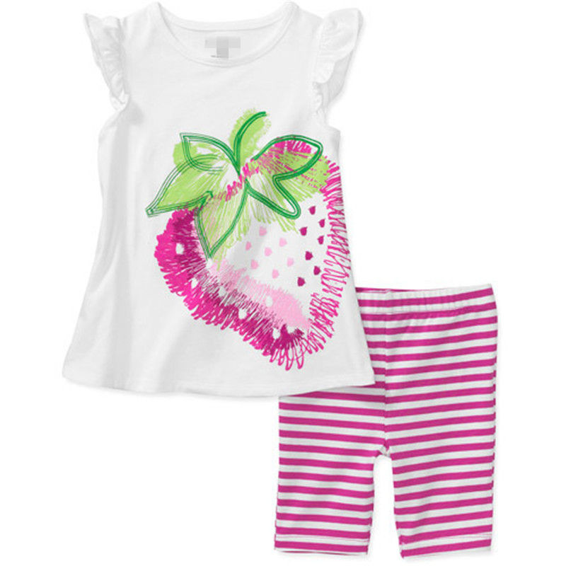 2016 new summer children sports suit set clothing kids T shirts shorts 2 pieces sets girls