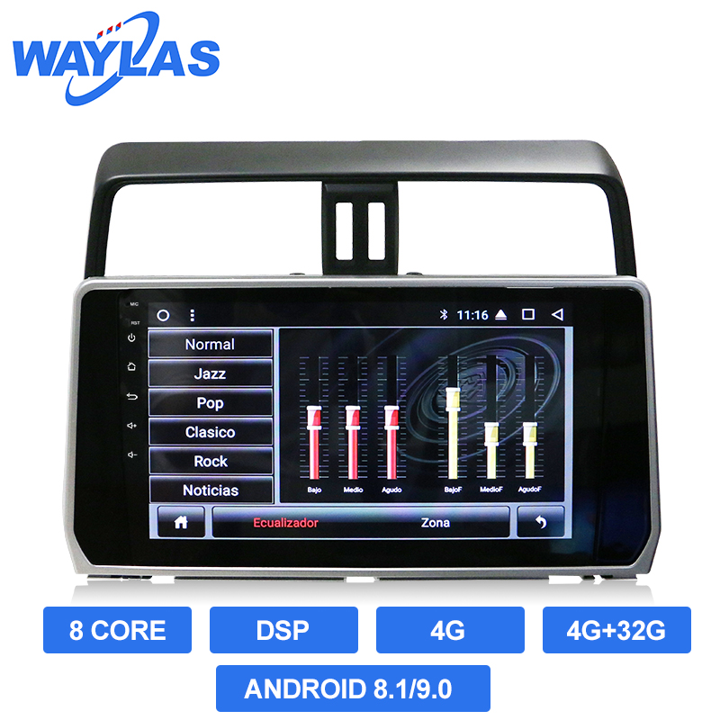 8 Core TS9 Android 8.1/9.0 4G Lte 4G + 32G DSP Car DVD Player สำหรับ toyota Prado 2018