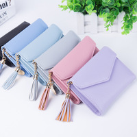 short wallet trend fashion elegant tassel high quality leather lady wallet