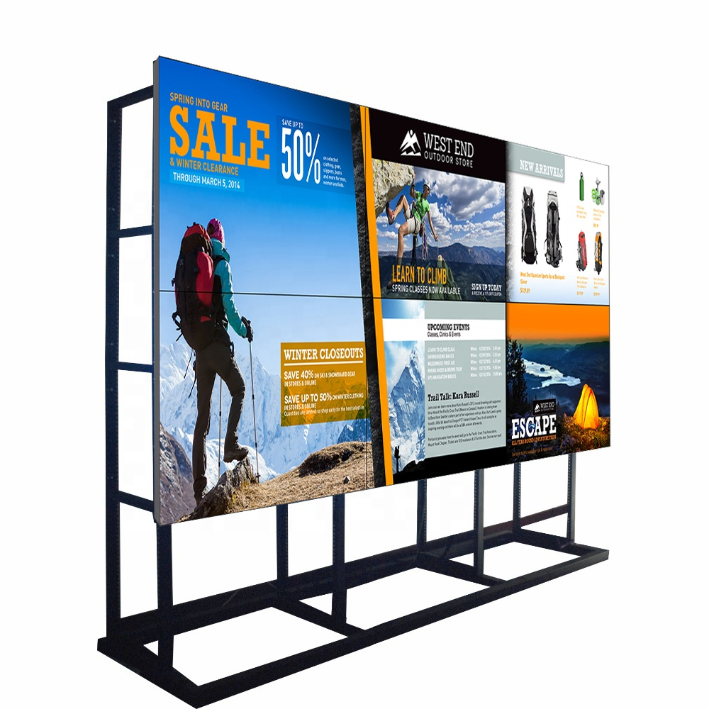 2x4 55 inch 3.5mm Floor Stand DEED LCD Video Wall display