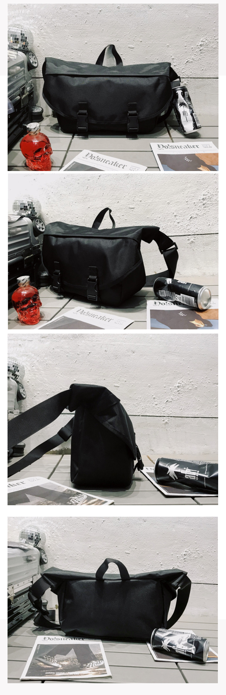 Osgoodway New Arrival Unisex Custom Logo Promotional Bicycle Cycling Messenger Travel Men Sling Bag
