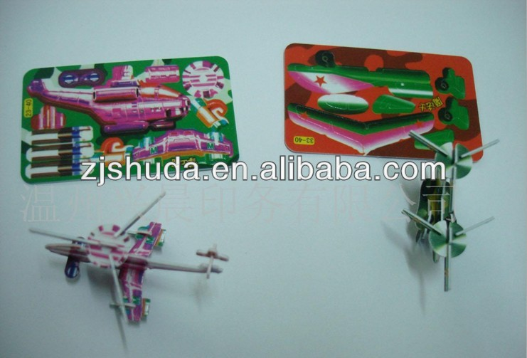 3d jigsaw model puzzle assemble plane