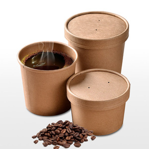 recyclable kraft paper cup raw material paper cup 12 oz