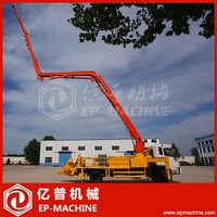 Hot sale hydraulic mobile concrete placing boom pump car 32m