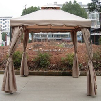 In Light Brown Great Deal Furniture Sonoma Abba Patio Outdoor Fabric Iron Gazebo Canopy