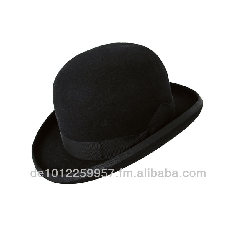 Black BOWLER HAT from german traditional manufacturer Faustmann - best  quality for gothik c3f2756b1135