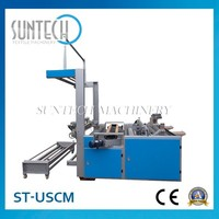 ST-USCM high quality durable Textile Strip Slitting Machine for home textile, Fabric Roll Cutting Machine
