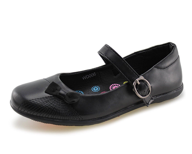 d45fe5c2e17 Get Quotations · Wayee Mary Jane School Uniform Flat Shoes for Girls  (Little Kids Big Kids)