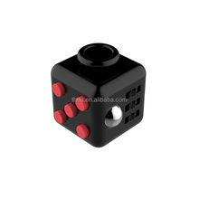 Black Red Stress Release Magic Fidget Cube 3.3cm Desk Fidget Cube Toys puzzle cube