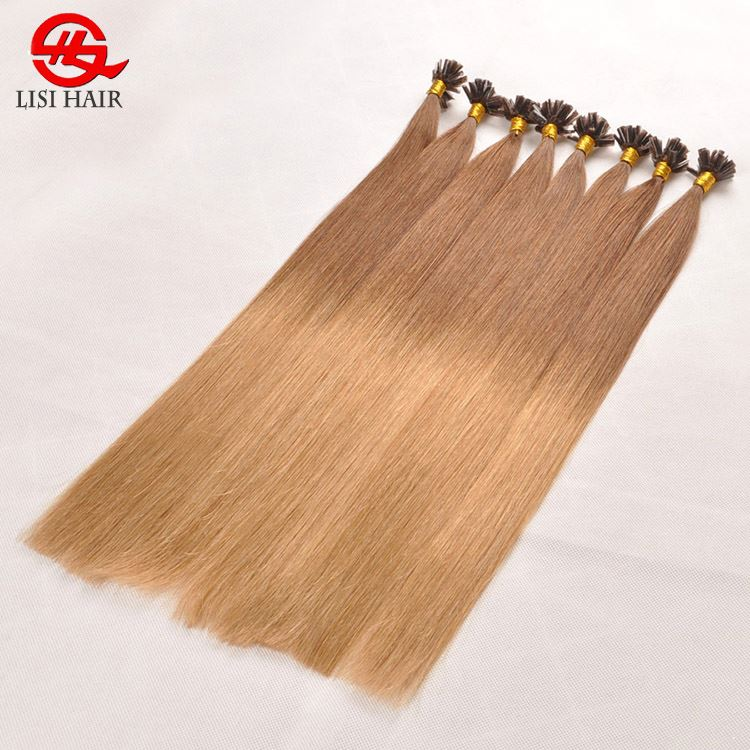 100 ราคาถูก Remy Ombre Prebonded u Tip Hair Extension