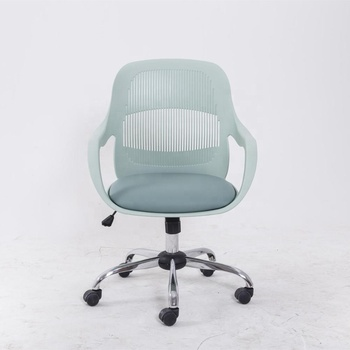 New Design Ergonomic Swivel Mid back PU Leather PP shell Task Office Conference Chair with Armrest