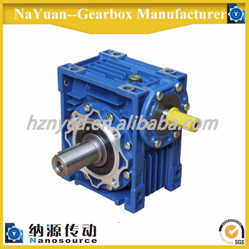 Long time synthetic lubricant NRV050 AS single extension output shaft right angle worm gear speed reducer for Textile machinery