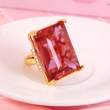 latest designs finger big stone women ring gold wedding crystal ring