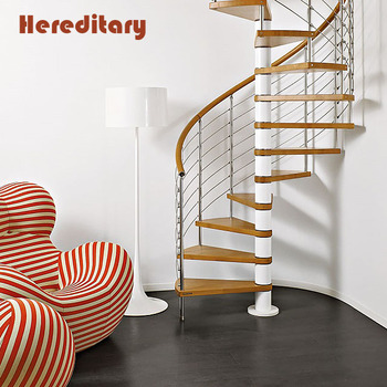 Modern Indoor Steel Staircase Wood Stair Treads Spiral Stairs Philippines Design For In