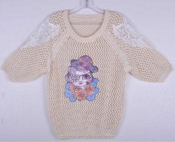 2015 New Arrival Fashion Carton Print Wool Handmade Sweater Design ...
