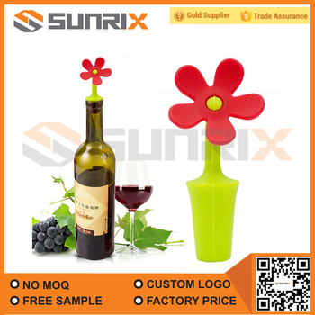 Eco-friendly Colorful Silicone Flower Wine Stopper