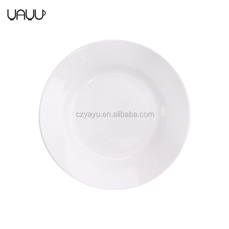 "Less order support wholesale soup plates , 7"" stocked porcelain plate white"
