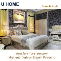 www.furnitureteem.com high end solid wood French style furniture modern bedroom suite
