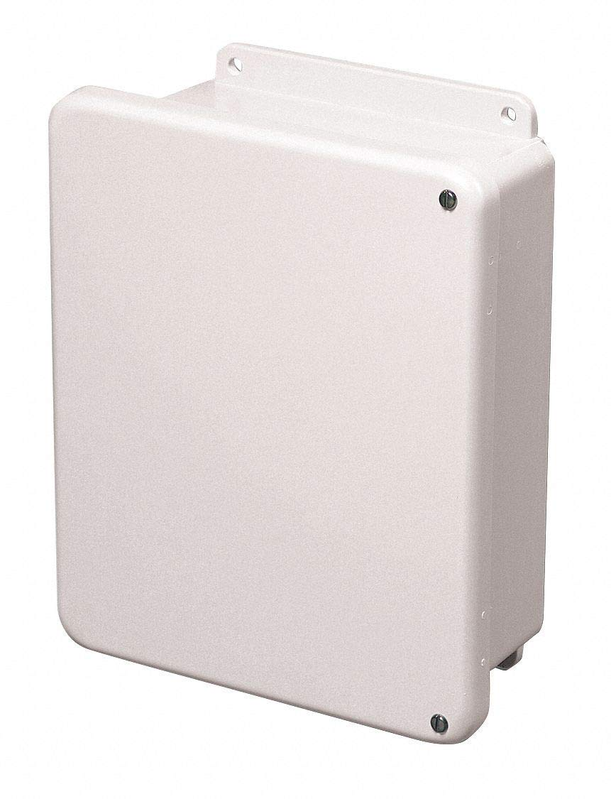 "8""H x 6""W x 4""D Non-Metallic Enclosure, White, Knockouts: No, Screws Closure Method"