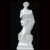 Classic Elegant Hand Carved White Marble Nude Woman Statue