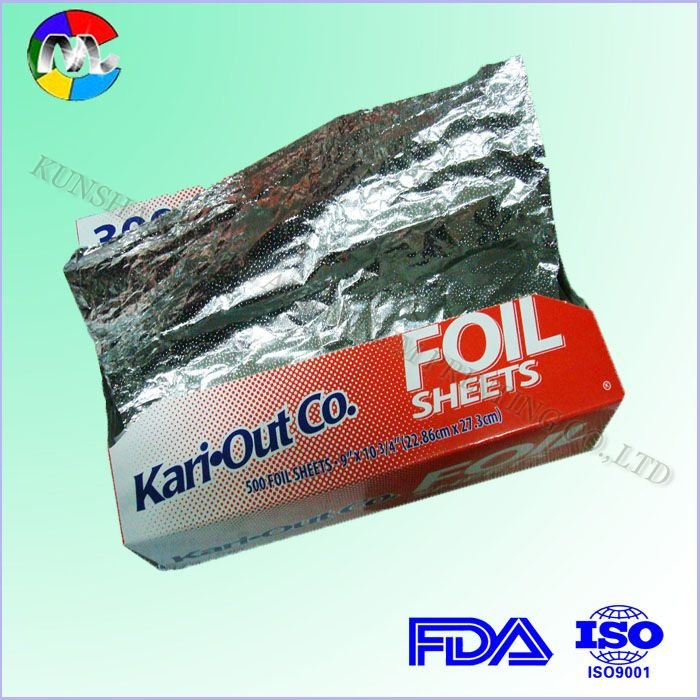 aluminum foil pre-cut sheet kitchen foil dispenser