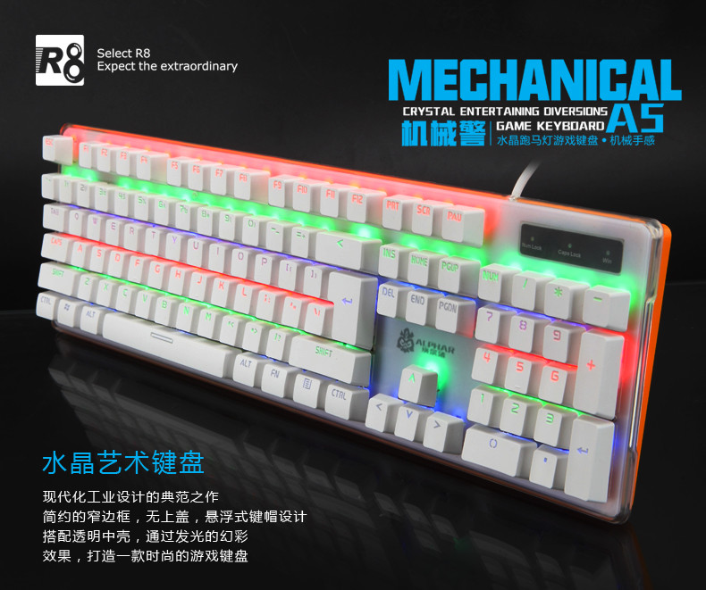 Professional Rgb Mechanical Backlit Keyboard Led Gaming Keyboard ...