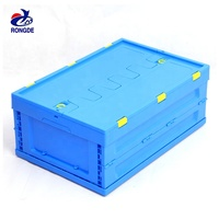 reusable small plastic container basket stackable PP plastic basket for fruit and vegetable transporation