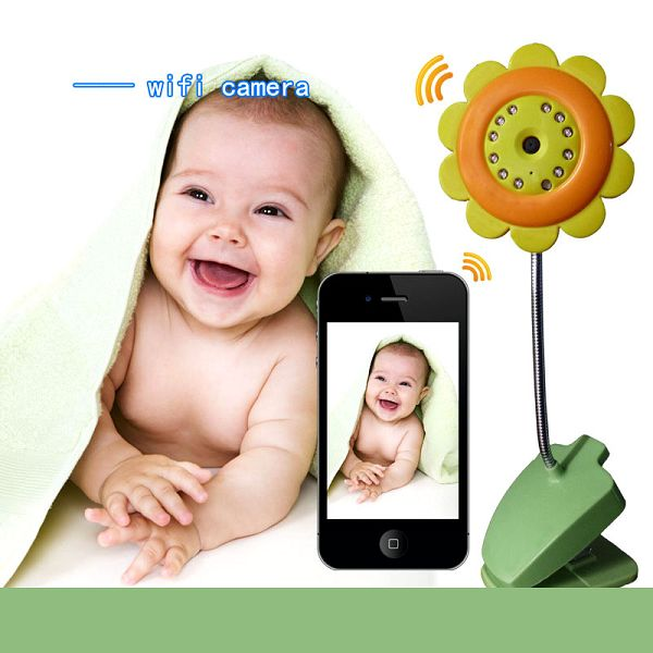 Flower Palm Wireless Camera Baby Monitor