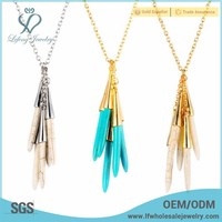 2016 trendy high quality turquoise stone necklace jewelry