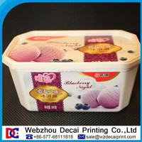 IML Ice Cream Container Label In Mould Label Wenzhou Decai Printing