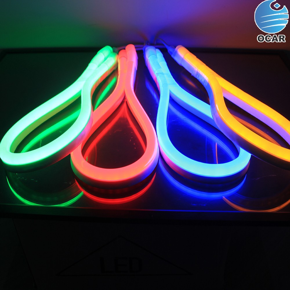 full color changing smd5050 rgb led neon flex tube light. Black Bedroom Furniture Sets. Home Design Ideas